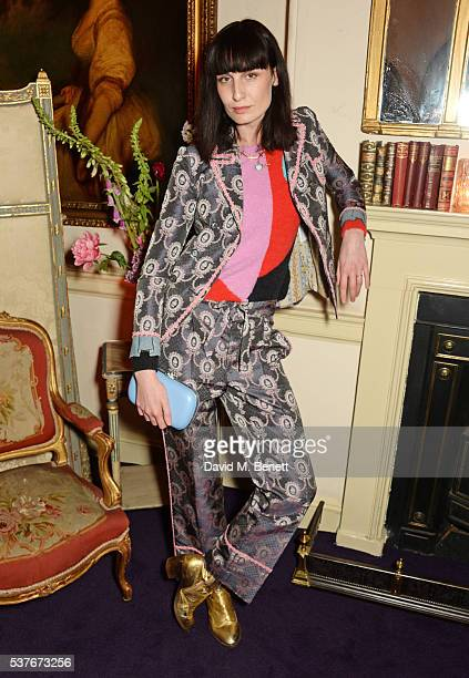 Erin O'Connor attends the Gucci party at 106 Piccadilly in celebration of the Gucci Cruise 2017 fashion show on June 2 2016 in London England