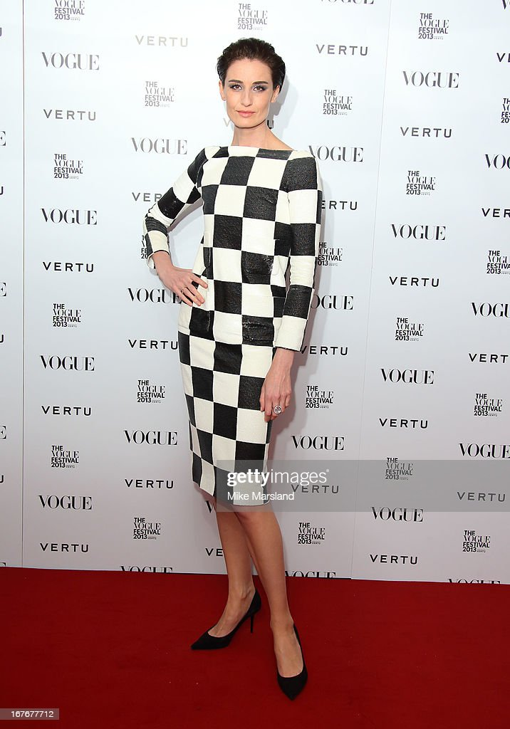 Erin O'Connor attends the opening party for The Vogue Festival in association with Vertu at Southbank Centre on April 27, 2013 in London, England.