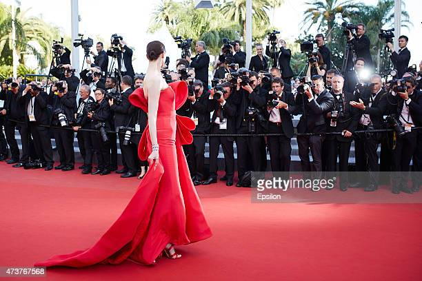 Erin O'Connor attends the Premiere of 'Carol' during the 68th annual Cannes Film Festival on May 17 2015 in Cannes France