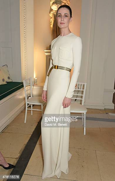 Erin O'Connor attends The Ralph Lauren Vogue Wimbledon Summer Cocktail Party hosted by Alexandra Shulman and Boris Becker at The Orangery at...