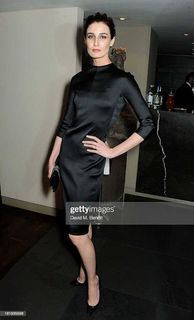 <a gi-track='captionPersonalityLinkClicked' href=/galleries/search?phrase=Erin+O%27Connor&family=editorial&specificpeople=204677 ng-click='$event.stopPropagation()'>Erin O'Connor</a> attends the Sky Living rebrand dinner at the Greenhouse Restaurant on September 26, 2013 in London, England.
