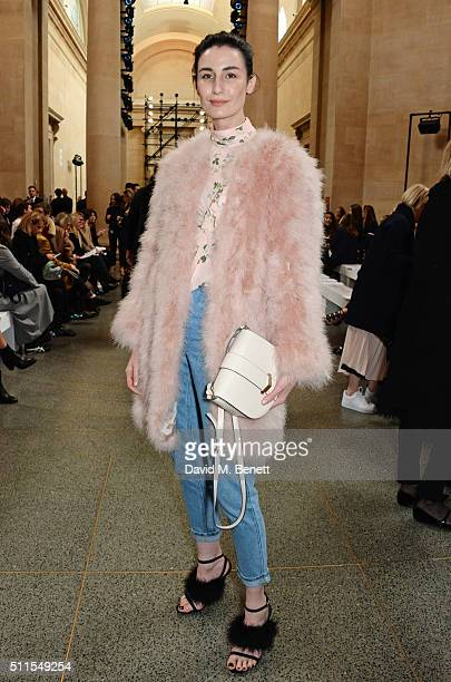 Erin O'Connor attends the Topshop Unique at The Tate Britain on February 21 2016 in London England