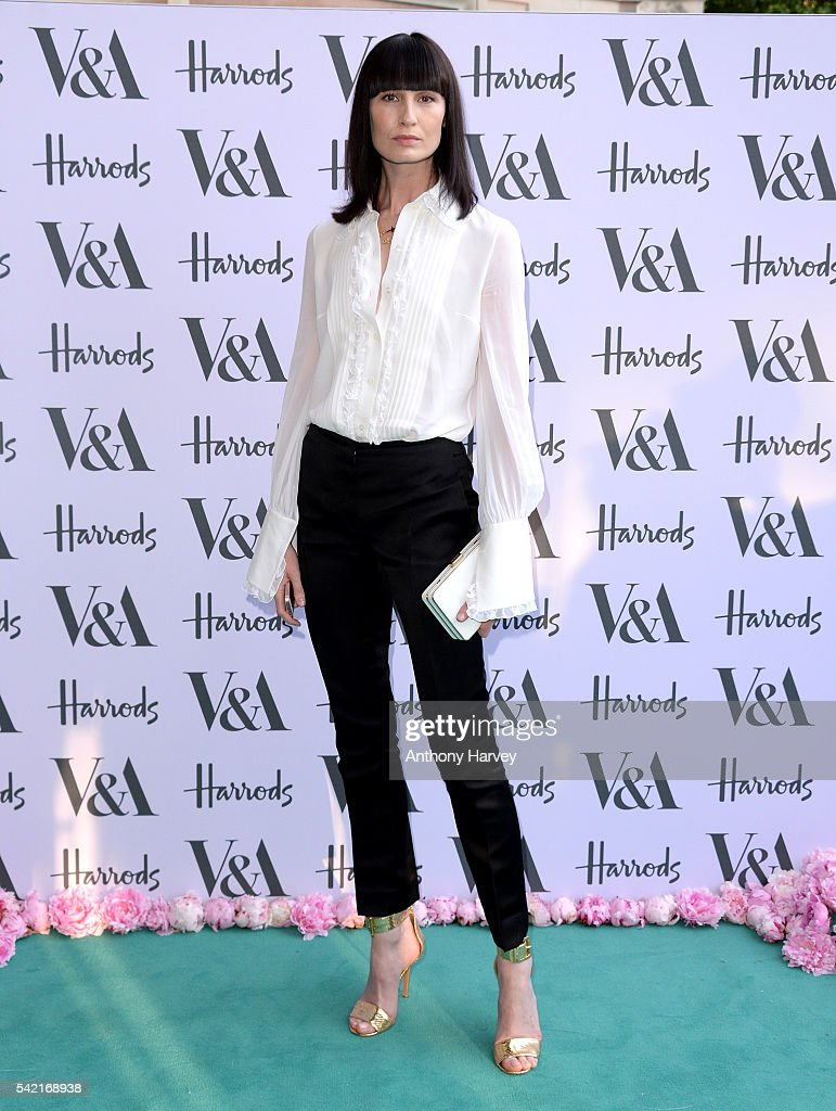 Erin O'Connor attends the VA Summer Party at Victoria and Albert Museum on June 22 2016 in London England