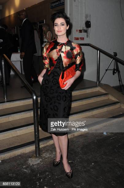 Erin O'Connor attends the Vivienne Westwood Show during London Fashion Week