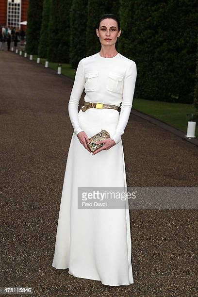 Erin O'Connor attends the Vogue and Ralph Lauren Wimbledon party at The Orangery on June 22 2015 in London England