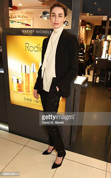 Erin O'Connor celebrates Rodial 1st year anniversary at Harvey Nichols on November 26 2015 in London England