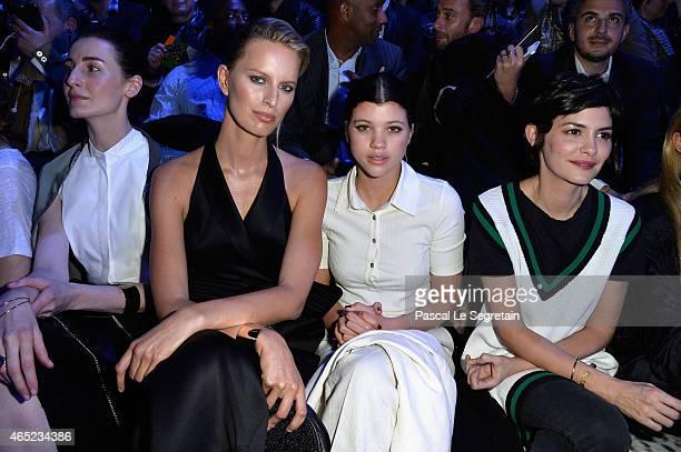 Erin O'Connor Karolina Kurkova Sofia Richie and Audrey Tautou attend the HM show as part of the Paris Fashion Week Womenswear Fall/Winter 2015/2016...