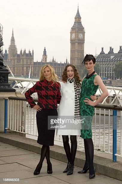 Erin O'Connor Laura Bailey Elizabeth Jagger Launch The New Marks Spencer Tv Advert At The London Eye