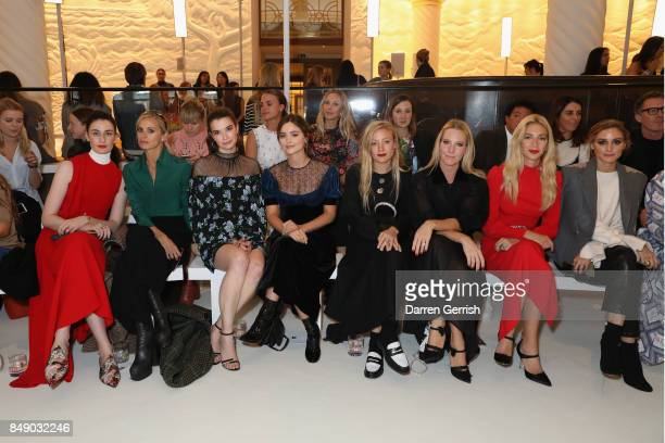 Erin O'Connor Laura Bailey Margaret Clunie Jenna Coleman Kate Foley Alice NaylorLeyland Sabine Getty and Olivia Palermo attend the Emilia Wickstead...