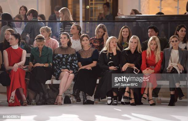 Erin O'Connor Laura Bailey Margaret Clunie Jenna Coleman Kate Foley Alice NaylorLeyland Sabine Getty and Olivia Palermo sit front row at the Emilia...