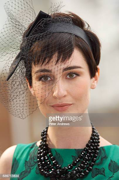 Erin O'Connor promotes the launch of Marks Spencer's new televison advertising campaign on London's South Bank