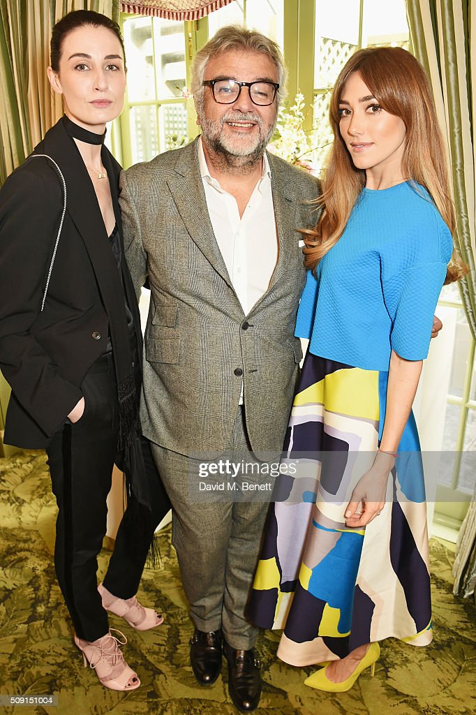 Erin O'Connor, Robert Bensoussan, CEO of L.K. Bennett, and Jacqui Ritchie attend the L.K.Bennett x Bionda Castana lunch at Mark's Club on February 9, 2016 in London, England.