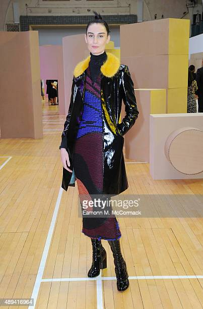 Erin O'Connor wearing Roksanda as attends the Roksanda show during London Fashion Week Spring/Summer 2016 on September 21 2015 in London England