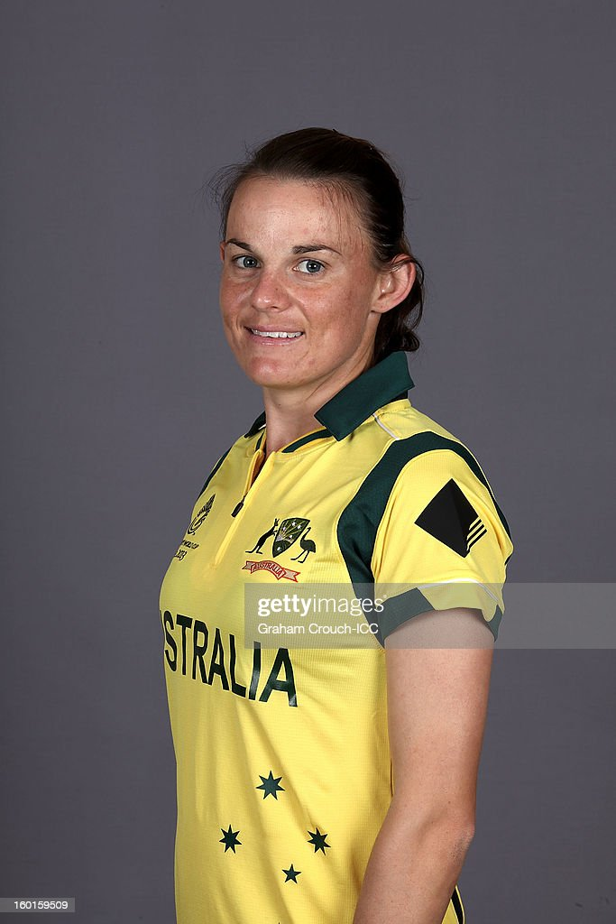 Erin Osborne of Australia attends a portrait session ahead of the ICC Womens World Cup 2013 at the Taj Mahal Palace Hotel on January 27, 2013 in Mumbai, India.
