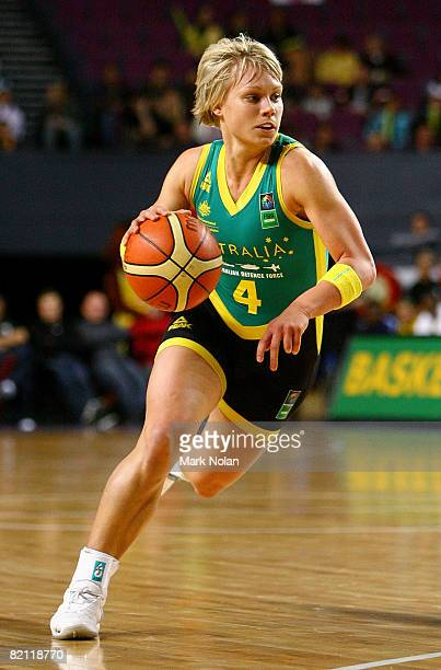 Erin Phillips of the Opals in action during the International Basketball Friendly match between the Australian Opals and Brazil at Sydney...