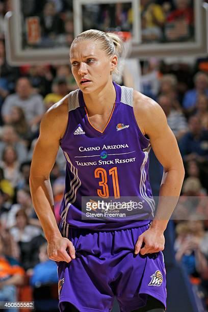 Erin Phillips of the Phoenix Mercury walks up court against the Connecticut Sun on June 12 2014 at Mohegan Sun Arena in Uncasville Connecticut NOTE...