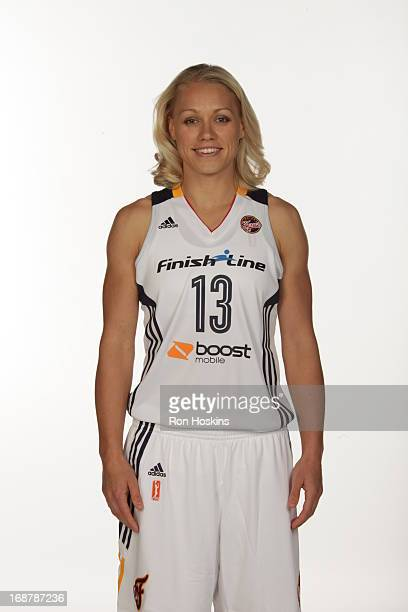 Erin Phillips poses for a photo during the Indiana Fever media day on May 13 2013 at Bankers Life Fieldhouse in Indianapolis Indiana NOTE TO USER...