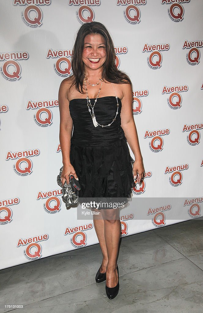 Erin Quill attends the 'Avenue Q' 10th year anniversary performance at New World Stages on July 31, 2013 in New York City.