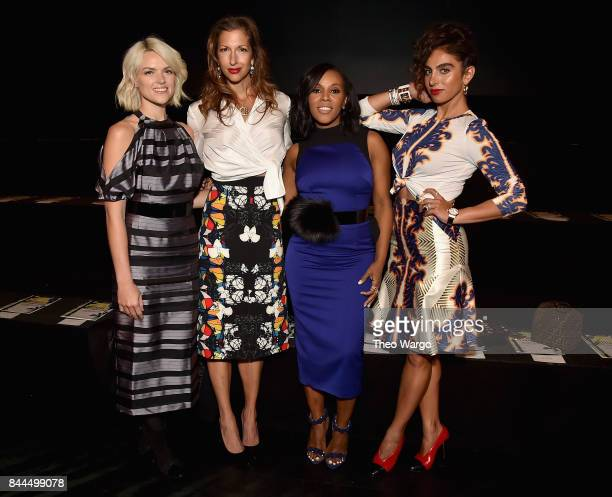 Erin Richards Alysia Reiner June Ambrose and Shari Loeffler attend the Bibhu Mohapatra Fashion Show at Gallery 1 Skylight Clarkson Sq on September 8...