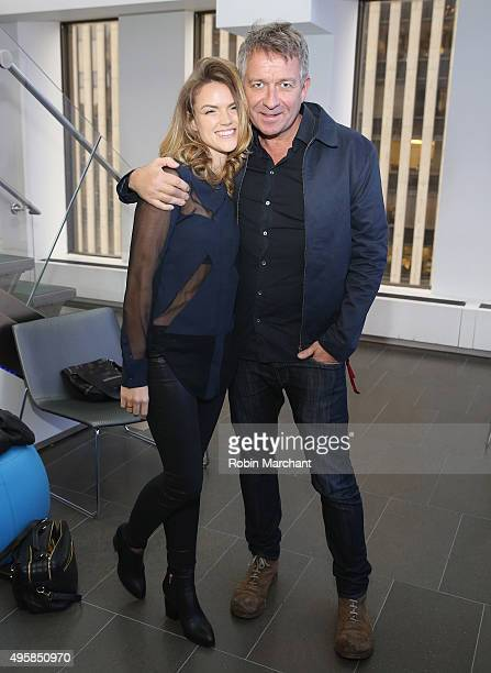 Erin Richards and Sean Pertwee visit at SiriusXM Studios on November 5 2015 in New York City