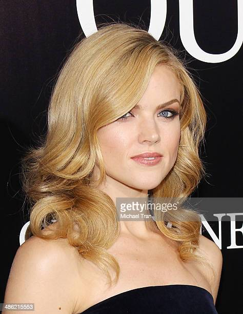 Erin Richards arrives at the Los Angeles Premiere of 'The Quiet Ones' held at The Theatre at Ace Hotel on April 22 2014 in Los Angeles California