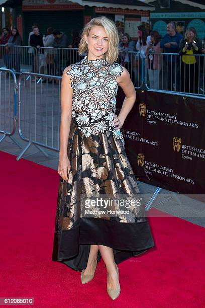Erin Richards arrives for the 25th British Academy Cymru Awards at St David's Hall on October 2 2016 in Cardiff Wales