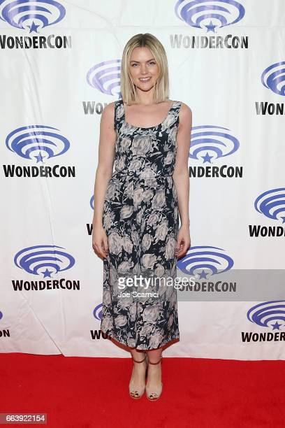 Erin Richards attends the 'Gotham' press line at WonderCon 2017 Day 3 at Anaheim Convention Center on April 2 2017 in Anaheim California