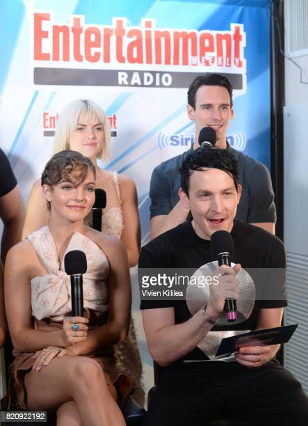 Erin Richards Camren Bicondova Robin Lord Taylor and Cory Michael Smith attend SiriusXM's Entertainment Weekly Radio Channel Broadcasts From Comic...
