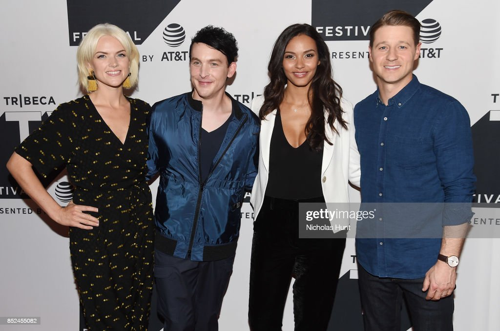 Erin Richards, Robin Lord Taylor, Jessica Lucas and Ben McKenzie attend the Tribeca TV Festival sneak peek of Gotham at Cinepolis Chelsea on September 23, 2017 in New York City.