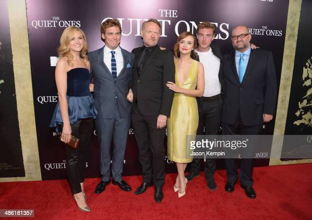 Erin Richards Sam Claflin Jared Harris Olivia Cooke Rory FleckByrne and John Pogue attend the premiere of Lionsgate Films' 'The Quiet Ones' at The...