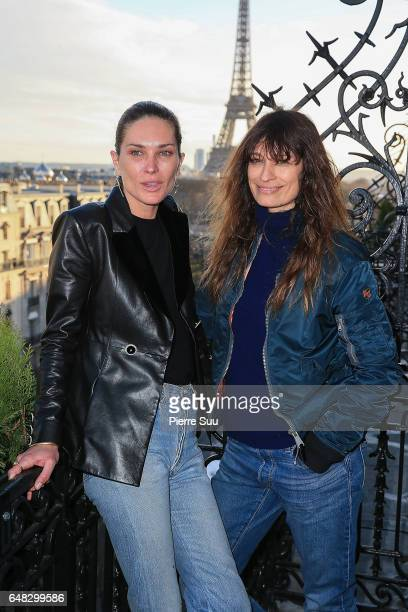 Erin Wasson and Caroline de Maigret attend the Wasson Fine Jewelry presentation as part of the Paris Fashion Week Womenswear Fall/Winter 2017/2018 on...