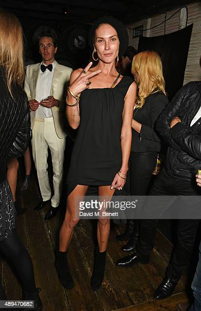 Erin Wasson attends an after party celebrating the premiere of Belstaff Films' 'Outlaws' during London Fashion Week at La Bodega Negra on September...