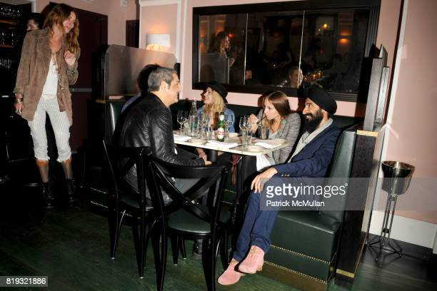 Erin Wasson Nur Khan Lily Donaldson Harley VieraNewton and Waris Ahluwalia attend ISABEL MARANT NYC Store Opening Dinner at Kenmare on April 14 2010...