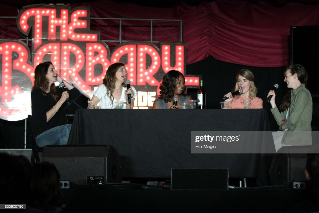 Erin Whitehead and Lauren Lapkus of Wild Horses, special guest Tiffany Haddish, and Mary Holland, and Stephanie Allynne of Wild Horses on The Barbary Stage during the 2017 Outside Lands Music And Arts Festival at Golden Gate Park on August 12, 2017 in San Francisco, California.