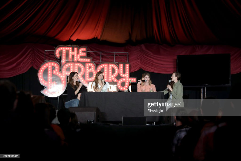 Erin Whitehead, Lauren Lapkus, Mary Holland, and Stephanie Allynne of Wild Horses on The Barbary Stage during the 2017 Outside Lands Music And Arts Festival at Golden Gate Park on August 12, 2017 in San Francisco, California.