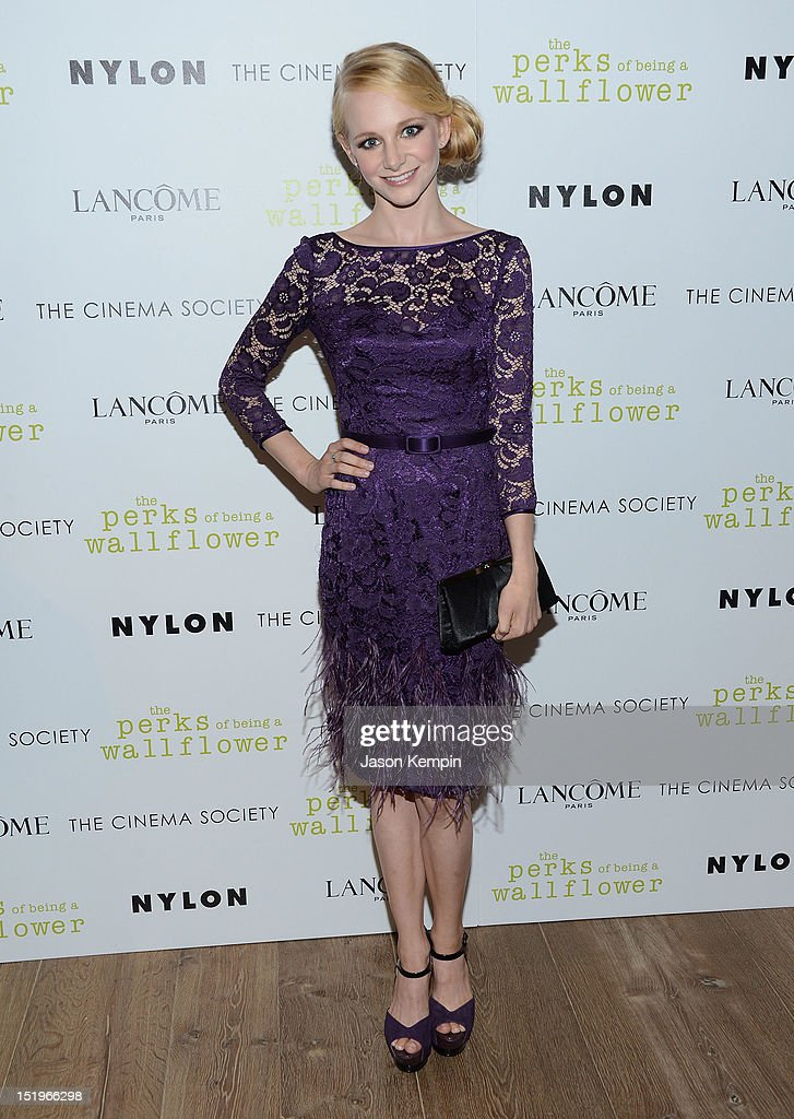 Erin Wilhelmi attends The Cinema Society with Lancome & Nylon screening of 'The Perks of Being a Wallflower' at the Crosby Street Hotel on September 13, 2012 in New York City.