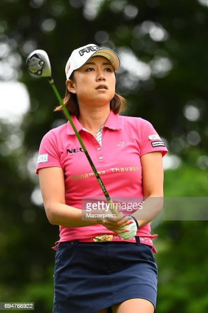 Erina Hara of Japan looks on during the final round of the Suntory Ladies Open at the Rokko Kokusai Golf Club on June 11 2017 in Kobe Japan