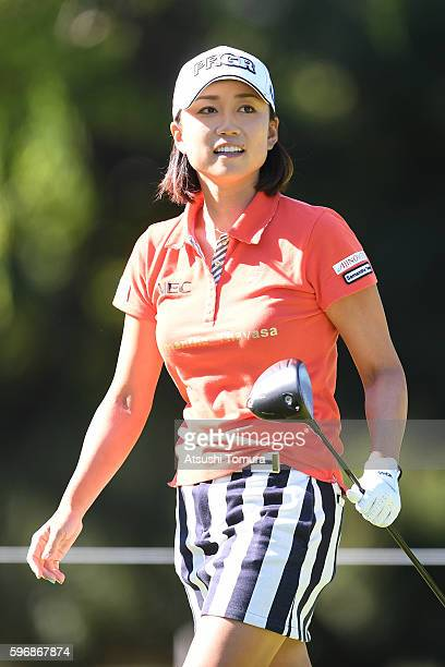 Erina Hara of Japan smiles during the final round of the Nitori Ladies 2016 at the Otaru Country Club on August 28 2016 in Otaru Japan