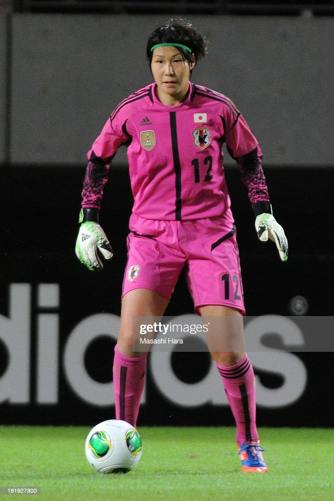 Erina Yamane #12 of Japan in action during the Women's international friendly match between Japan and Nigeria at Fukuda Denshi Arena on September 26, 2013 in Chiba, Japan.