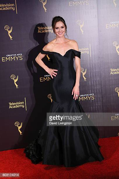 Erinn Hayes attends the 2016 Creative Arts Emmy Awards Press Room Day 2 at the Microsoft Theater on September 11 2016 in Los Angeles California