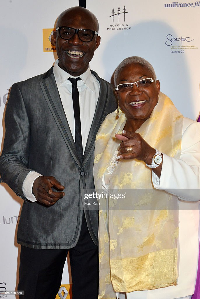 Eriq Ebouaney and Firmine Richard attend 'Les Lumieres 2013' Cinema Awards 18th Ceremony at La Gaite Lyrique on January 18, 2013 in Paris, France.