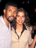 Eriq La Salle and girlfriend at the Premiere of 'Soul Food' Mann Village Theatre Westwood