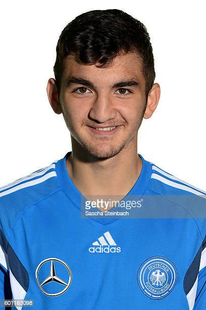 Erkan Eyibil poses during the Germany U16 Team Presentation on September 9 2016 in Kamen Germany