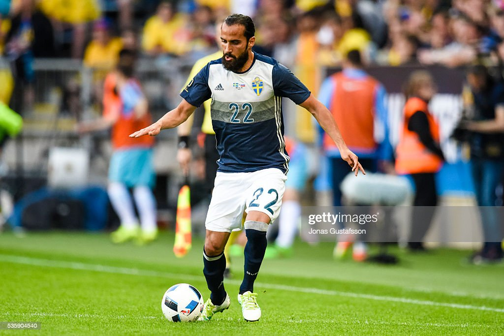 Erkan Zengin of Sweden during the international friendly match between Sweden and Slovenia May 30, 2016 in Malmo, Sweden.