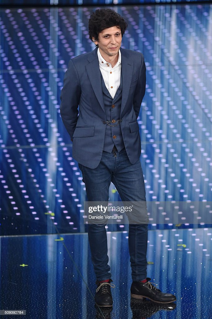 Ermal Meta attends second night of the 66th Festival di Sanremo 2016 at Teatro Ariston on February 10, 2016 in Sanremo, Italy.