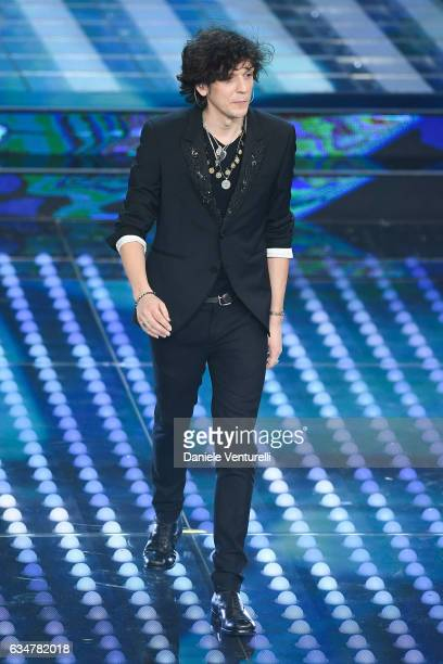 Ermal Meta attends the closing night of 67th Sanremo Festival 2017 at Teatro Ariston on February 11 2017 in Sanremo Italy