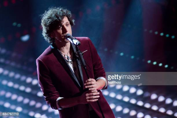Ermal Meta attends the fourth night of the 67th Sanremo Festival 2017 at Teatro Ariston on February 10 2017 in Sanremo Italy