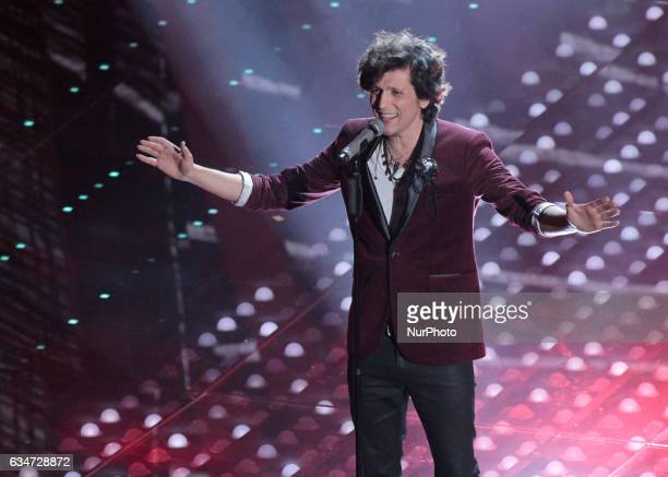 Ermal Meta during the 67th edition of the Sanremo Festival on February 10 2017