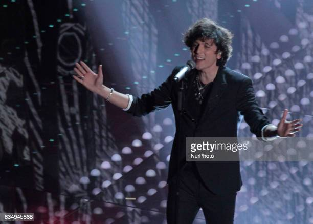 Ermal Meta during the 67th edition of the Sanremo Festival on February 11 2017