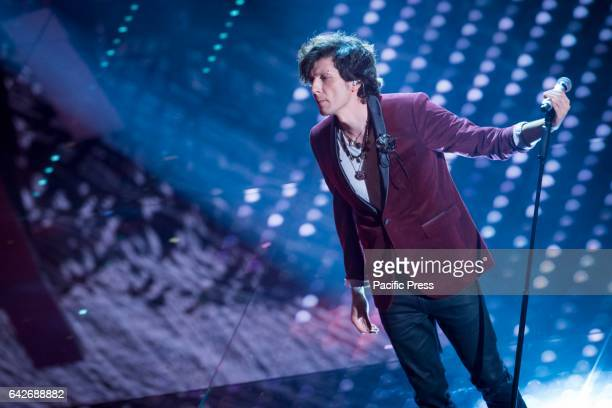 Ermal Meta in the 67th competition of Sanremo festival in Italy